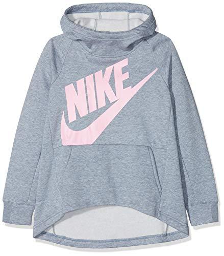 Nike Sportswear Sweat à Capuche Fille, Ashen Slate/Heather/(Pink), FR : S (Taille Fabricant : S)