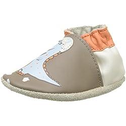 Robeez Funny Dino, Zapatillas de Estar por casa para Bebés, (Marron 9), 17/18 EU