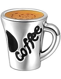 Soufeel Coffee Kaffeetasse 925er Sterlingsilber Charm
