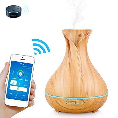 ZLC Diffusore di Olio Essenziale di aromaterapia, Wireless WiFi Bluetooth Smart App ultrasuoni Telecomando Macchina aromaterapia Compatibile con Alexa e Google Home umidificatore ad ultrasuoni