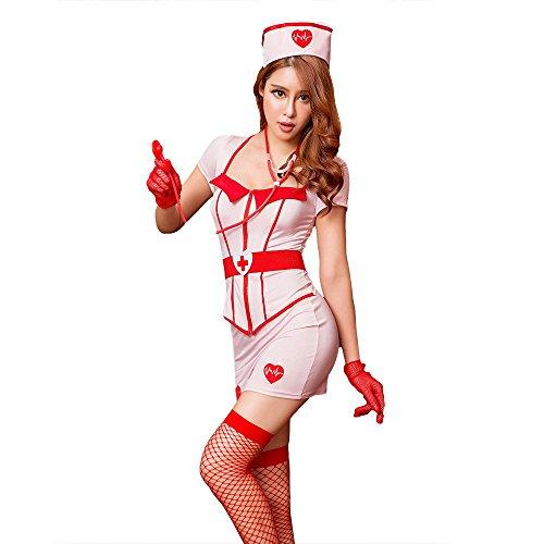 Sexy Krankenschwestern-Uniform Verlockung Nachtclub Cosplay verspielte Performance - Frauen Verspielt Krankenschwester Kostüm