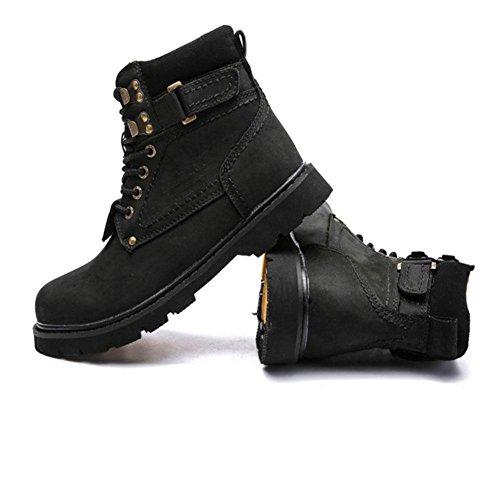 Stivali invernali da donna Piatto e caldo antiscivolo Scarpe da trekking da lavoro all'aperto , black , 43 BLACK-42