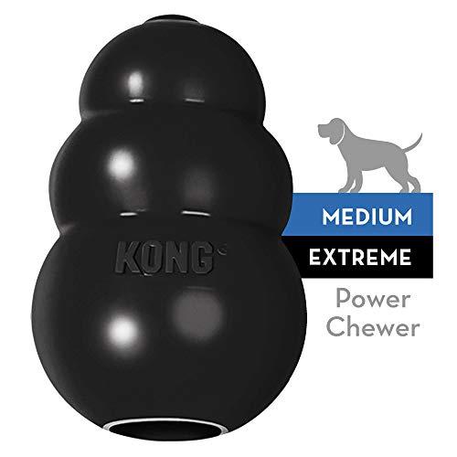 KONG - Extreme, Extra robuster schwarzer Naturkautschuk - Kauen, Apportieren - Mittelgroße Hunde