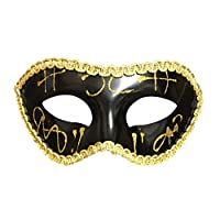 BIGBOBA Unisex Halloween Venetian Masquerade Mask Plastic Half Face Mask for Wedding Cosplay Props Fancy Dress Ball Party Costume Accessory