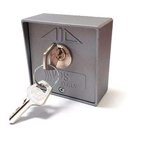 Selector-de-llave-exterior-de-superficie-de-2-contactos-VDS-Start-Stop-para-accionamiento-de-motores-de-puertas-de-garaje-persianas-comerciales-automatismos-control-de-accesos