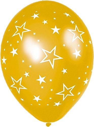 amscan International 28cm Ballon Sterne (Gold)