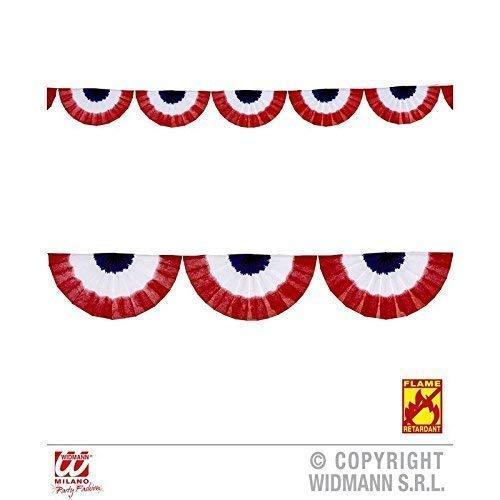 ergirlande U.S.A. ca. 2,75 m in rot - weiß - blau / Wimpelkette / Dekoration USA / Amerikadeko ()