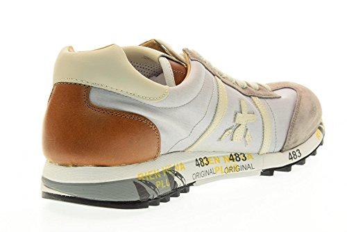 PREMIATA scarpe uomo sneakers basse LUCY 1984 Beige-cuoio