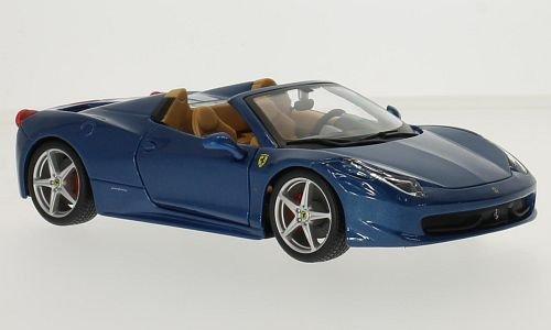Ferrari 458 Spider, metallic-blau, 0, Modellauto, Fertigmodell, Bburago 1:24