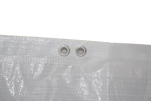 4 x Gerüstschutzplane - Gerüstplane - weiß-transluzent - mit Doppelösen alle 50 cm 1,10 m x 10 m