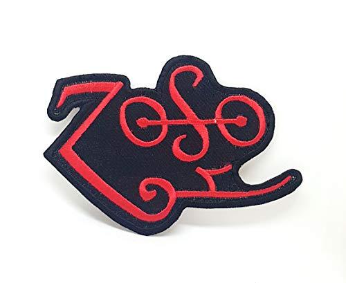 ZOSO Led Zeppelin Red T-Shirt, zum Aufbügeln, bestickt