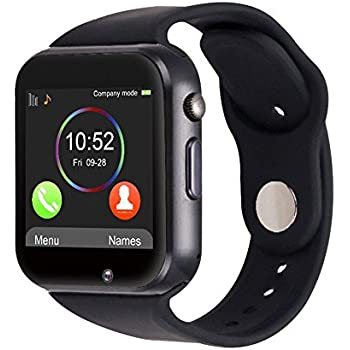 Montre connectée Smartwatch A1 anthracite – téléphone avec sim – Ecran tactile – Smartwatch SIM Téléphone