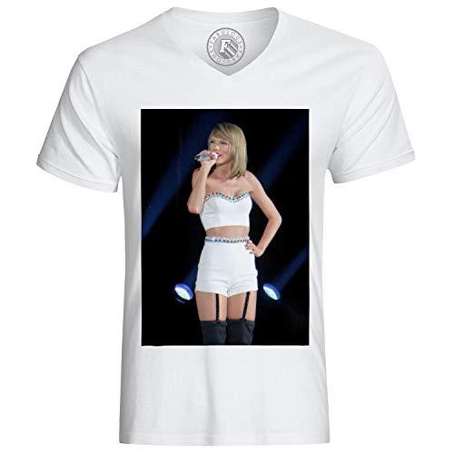 Männer T-Shirt Foto von Music Star Taylor Swift auf der Bühne Zeigen Sexy (Swift Taylor Herren T-shirt)