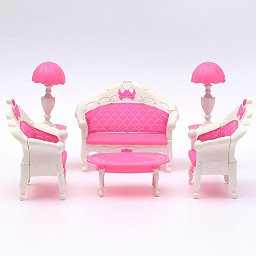 Generic Pink Dollhouse Furniture Living Room Parlour Sofa Set