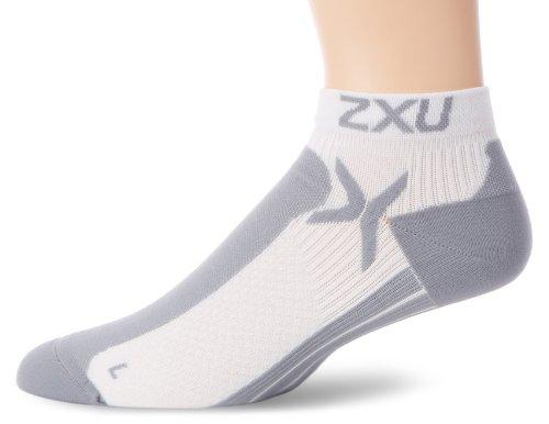 2x u Performance Herren Low Rise Socken Large/Extra-Large weiß/grau