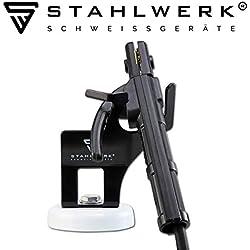 Accessoires STAHLWERK Porte-pince à électrodes avec support à base magnétique, support de torche à base magnétique universel pour ARC/MMA/E-Hand