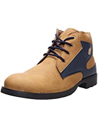 TOMCAT Men's Faux Leather Boots - B01KC61ATG