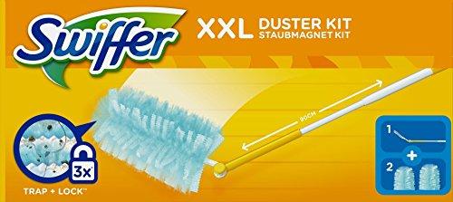 Swiffer Staubmagnet Starter-Set, XXL-Griff mit 2 Staubtüchern