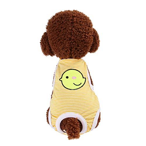 Haustier Hund Physiologische Menstruationshöschen Windelhose - Haustier Windeln Bequeme Hund Hosen Nappy Physiologisch Menstrual Suspender Unterwäsche - für Kleine, Extra Kleine Hund (Gelb, M)
