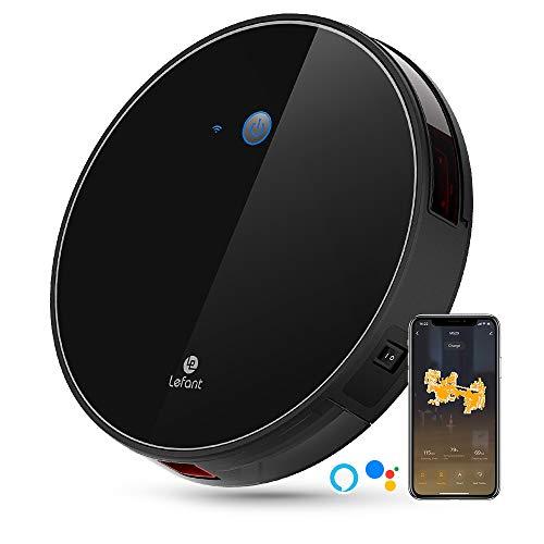 LEFANT Robot Aspirador WiFi Aspirador de Limpieza con App, Succión Fuerte 2200 Pa Aspiradora Robot...