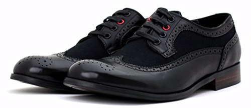 Neuf Pour Hommes Brogue Chaussures Travail De Bureau Intelligent Décontracté Mariage robe taille UK Noir