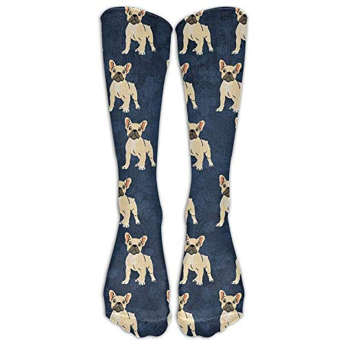 UYTGYUHIOJ French Bulldog Lovely Unisex Novelty Premium Calf High Athletic Socks...