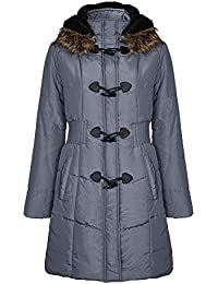 167809ecbf43c David Barry - Women s Quilted Hooded Fur Trim Parka