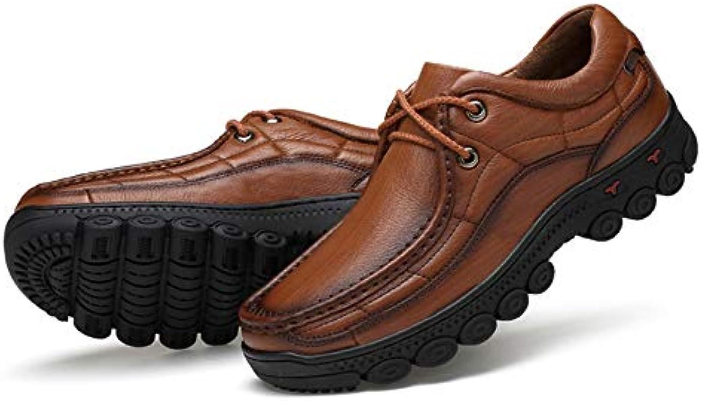 LUCKYEUD Scarpe da Uomo in Pelle con Decoro Derby Oxford Oxford Oxford Business scarpe Suola in Gomma per Il Tempo Libero da... | Grande Varietà  655633