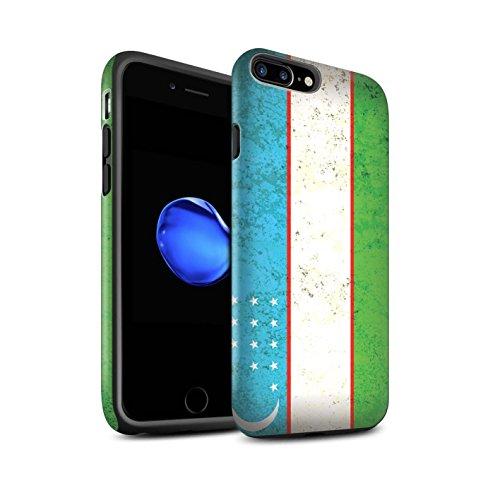 STUFF4 Matte Harten Stoßfest Hülle / Case für Apple iPhone 6 / Georgien/Georgisch Muster / Asien Flagge Kollektion Usbekistan/Usbekistan