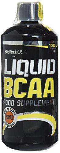 Biotech USA 12004010200 Liquid BCAA Acide Aminé Saveur Orange