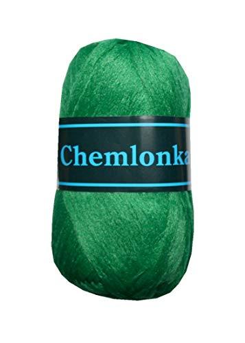 B2Q Strickgarn Chemlonka Makramee Garn 50 g 100% Polypropylen grün (0610)