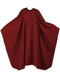 TRIXES Camice rosso da parrucchiere, mantellina per salone, barbieri, taglio capelli