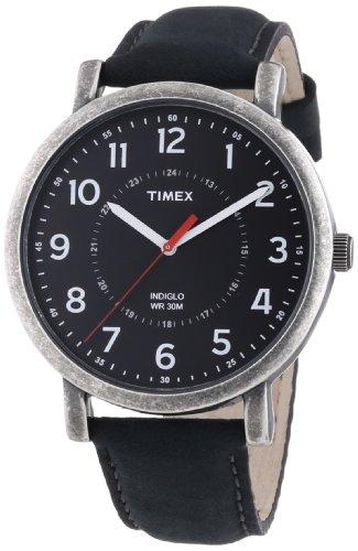 Timex-Timex-Style-Originals-Classic-Round-Reloj-de-cuarzo-para-hombre-con-correa-de-cuero-color-negro