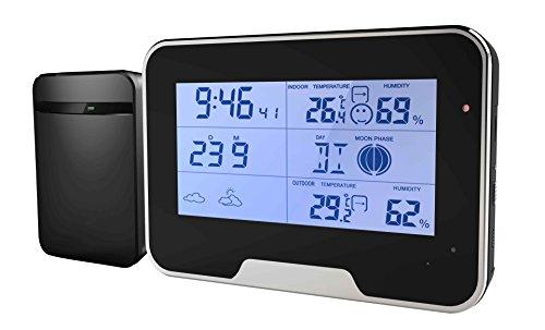 Wetterstation getarnte Spionage Kamera mit Bewegungserkennung Funktion Full HD Mini Tischuhr Wecker Überwachungskamera