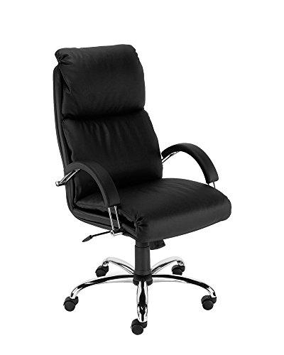 Dreams4Home Chefsessel \'Turin\', Chefdrehsessel, Drehstuhl, Bürostuhl, Arbeitsdrehstuhl, mit Armlehnen, schwarz