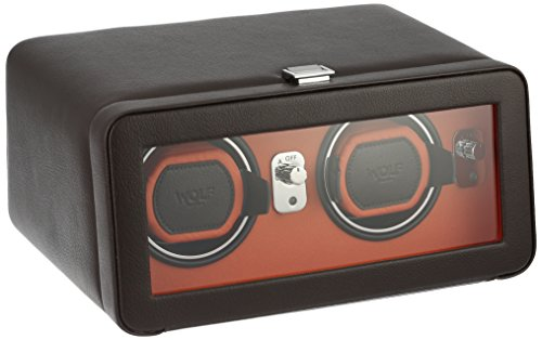 Wolf Windsor Double Winder mit Cover – 452606 (Wolf Uhrenbeweger Batterie)