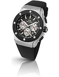 TW Steel Ceo Tech CE4020 - Mouvement Quartz - Affichage Chronographe - Bracelet Silicone Noir et Cadran Noir - Mixte