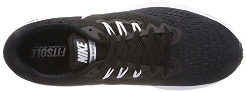 Nike Damen Wmns Zoom Winflo 4 Laufschuhe Schwarz (Black/dark Grey/white)
