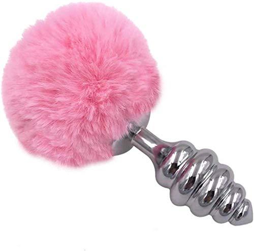 xy rosa Kunst Kaninchenendstück Cosplay Spielzeug Edelstahl Fun-Plug Paar Spielzeug Metall-Stecker, Style 3 (Farbe, M),L