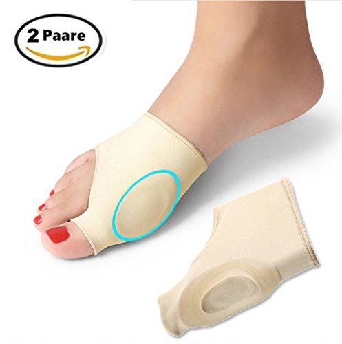 Die Feste Schiene (2 Paar Hallux valgus Korrektur Gel-Pad-Socken Sockenset für die Schmerzlinderung bei Hallux valgus & zum Ausrichten der Zehen)