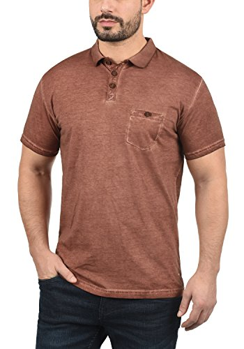Solid Termann Herren Polo-Shirt Polokragen Kurzarm Aus 100% Baumwolle Fox  Brown ( !