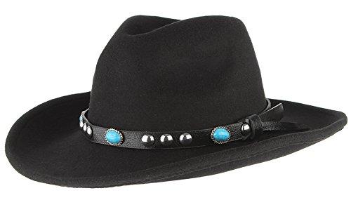 GEMVIE Hat Sombreros Panamá Fedora Mujer Hombre Vintage Fiesta Talla Única Negro