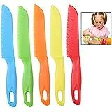 iwobi Couteaux de Cuisine en Plastique,Couteaux à Légumes pour Enfants Fruit, Pain, Gâteau, Couteau à Laitue