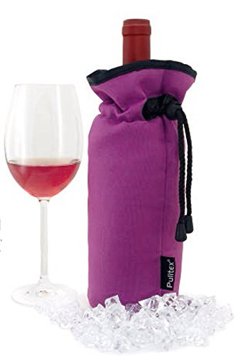Pulltex Wein Kühler Tasche, Nylon, violett, 18,5x 12x 4,2cm