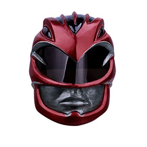 QXMEI Dinosaurier Team Power Rangers Extravagante Team Red Warrior Helm Maske Cos Halloween Kopfbedeckungen,DinosaurTeamHelmet-OneSize