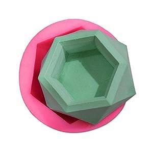 Xiang Pian 183 Silikonform mit Diamantform - DIY Blumentopf-Betonformen Sukkulenten Schimmel Gipsputz Schimmel Heimtextilien Handwerk