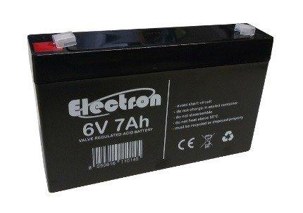 Batteria Ermetica Ricaricabile al Piombo 6V Volt 7Ah con connettore faston 4,8mm 151x33x98mm