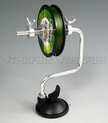 Schnurspulgerät mit Saugnapf Haspel Handhaspel Angelschnur Spool Spooler System