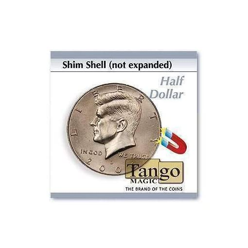 Shim-shell-not-expanded-Half-Dollar-by-Tango-Magic-Magie-mit-Tuch-Zaubertricks-und-Magie