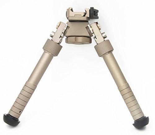 JINSE Schwenken Tactical Bipod Zweibein Ständer Super Duty Einklappbar Einstellbare 6 bis 9 Zoll -